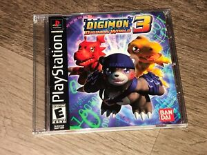 Digimon World 3 Playstation 1 PS1 w/Case & Manual Authentic