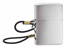 Zippo 275, Loop & Lanyard-Lossproof,  Brushed Chrome Finish Lighter, Full Size