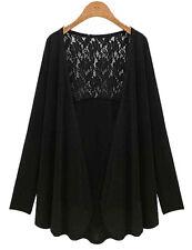 US Women Lace Long Sleeve Pullover Blouse Tops Shirt Cardigan Coat Plus Size 5XL