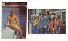 2Sammelbild DDR Falk Hoffmann Turmspringen Schwimmen Moskau 1980 Freistilstaffel