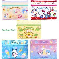 Sanrio 2-Zip Storage Bag A5 Folder Stationery Cosmetic Pouch Travel Organizer