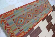 3627...Best Quality Hand Woven Lamb Wool Kilim..Size ..245 .x 77..CM