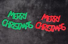 50 Merry Christmas words Diecut Red Green holidays decorations Scrapbooks Cards