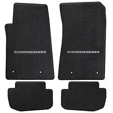 Chevy Camaro 4 Pc Carpet Floor Mats Official logo -BLACK - 32oz Fits 2010-2015