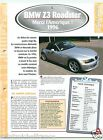 BMW Z3 Roadster 1,9i 4 Cyl. 1996 Germany USA Car Auto Voiture FICHE FRANCE