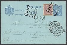 Netherlands Indies covers 1897 uprated PC MAKASSAR to Nijmegen