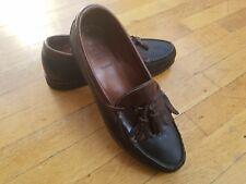 Allen Edmonds Tassel Loafers Dress Shoes 9D Black & Brown Leather Goodyear...