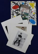 """Elvis Costello-Live at hollywood high ep-7"""" single 1979 + original postcards 45t"""