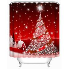 165x180cm 3D Christmas Tree Digital Printing Waterproof Bathroom Shower Curtain