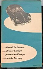 1961 VW Dealer / Service Map From Europe RARE