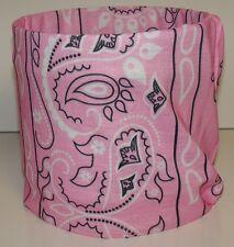 Light Pastel Pink Paisley Tubular Multi Function Headwear 12 USES Biker Beanie