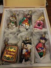 "INGE-GLAS  ""Nutcracker Fantasy"" Ornament Set Of 6 In Wooden Box  RETIRED"