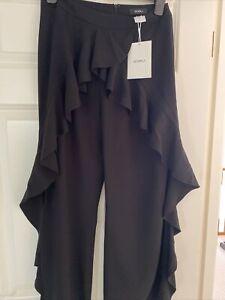 Goen j Black Size10 Black Side Split Trousers Bnwt RRP €225