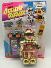 Vintage Toy Mini Action Robot Gold Remote Control Controlled Space Toys 80's #2