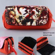 Fairy Tail red naze zips cute pencil pen bag makeup bags handbag storage bag