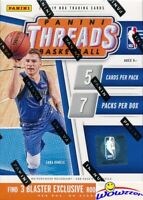 2018/19 Panini Threads Basketball Factory Sealed Blaster Box-3 Rookies Icons!
