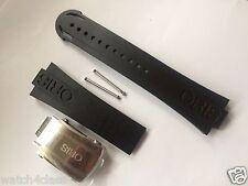 ORIS CAOUTCHOUC Aquis Diver RUBBER band 42634 strap bracelet Titanium buckle