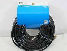 15 Foot Blue Jeans Cable RG-6 CATV Coaxial Cable Black Assembled in USA