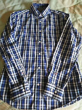 BNWT M & S BLUE HARBOUR SHIRT SIZE SMALL CHEST 36-38 LONG SLEEVE TAILORED CHECK