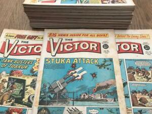 37 Vintage The Victor Comic dated 1963 to 1965