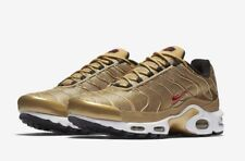 1be66577ee MENS NIKE AIR MAX PLUS QS METALLIC GOLD EXCLUSIVE 903827 700 LAST FEW