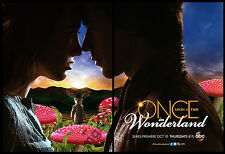 Once Upon a Time in Wonderland 2-page clipping ad 2013 ABC series
