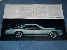 """1966 Buick Riviera GS Vintage 2pg ad The Old Grigio Ain'T What She Usato To """""""