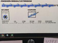 "1 New Jennmar McSweeney 327S Roof Drill Auger Bit 1-1/4"" X 24"" *Make Offer*"