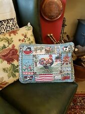 Vintage Tapestry Effect Cushion Cover & Pad, Approx 43cm x 31cm