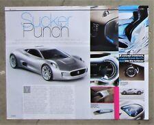 JAGUAR JAG C-X75 Electric Turbine Concept Car Auto Magazine Page Article Review