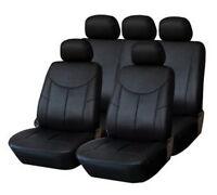 Premium Similpelle Coprisedile Auto Automobile Nero Set Per Molti Veicoli
