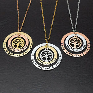 Custom Family Tree Necklace Tree of Life Necklace Kid Names Necklace Mother Gift