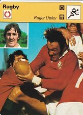 RUGBY carte joueur fiche photo  ROGER UTTLEY ( ANGLETERRE )