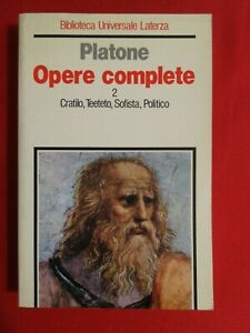Platone Opere Complete Vol. 2 BUL Laterza 1991