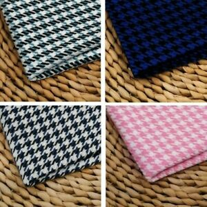 Houndstooth Fabric Check Plaid Dress Making Cushion Curtain Upholstery DIY SHP