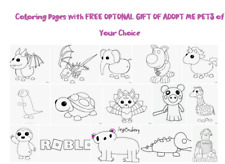 Roblox Adopt Me Coloring pages with Free PETS from the game :)