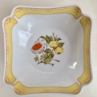 Georges Briard Somerset Vegetable Serving Bowl White Yellow Floral Flowers Fruit