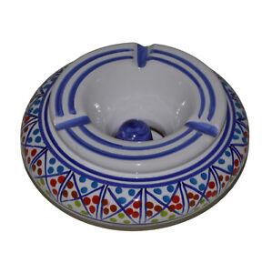 Windaschenbecher Aschenbecher Keramik Mediterran Unikat Handbemalt Handarbeit 03