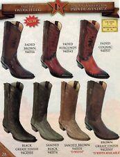 Los Altos Men's Snip Toe Leather Exotic Ostrich Leg Cowboy Western Boots