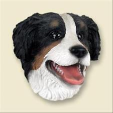 Bernese Mountain Dog Dog Head Painted Stone Resin Magnet