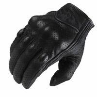 Gants de moto, gants en cuir vintage, gants de motard, S-2XL