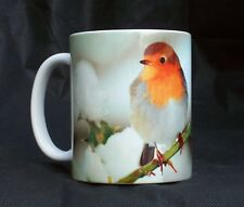 Robin In The Winter Snow Gift Mug Berries Holly Birds Present Gift