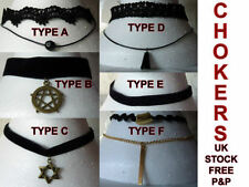 Unbranded Goth Choker Costume Necklaces & Pendants