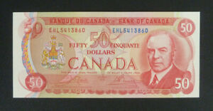 Canada Banknote 1975 $50 (P90b) - Uncirculated and Top-Shelf