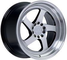F1R F28 18X8.5 5X112/114.3 +45 Machine Black Wheels Fits VW cc eos golf jetta