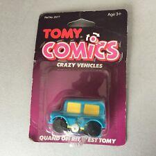 80'S #VINTAGE TOMY COMICS COMIC CARS  #WIND UP CRAZY VEHICLES#MOSC