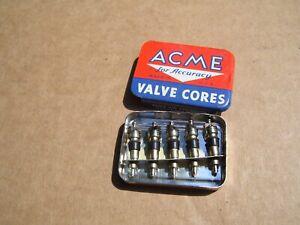 Vintage nos ACME tire valve cores tin part service gm Hot rat rod ford chevy vw