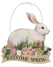 Ganz Bunny Plaque - Welcome Spring (EA14967)