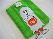 Halloween Towel Bath Kitchen Terry Cloth Large Green Ghost Trick or Treat Nwt