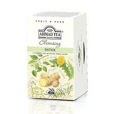 New !  20 Foil Tea bags Ahmad Tea Detox  Black Tea